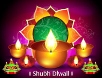 Diwali kortdesign Fotografering för Bildbyråer