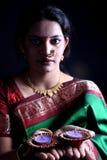 Diwali Lady Stock Image
