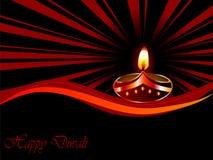 Diwali lamp. Black Diwali background with lamp royalty free illustration