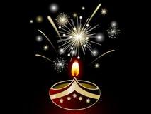 Diwali lamp. Black Diwali background with lamp vector illustration