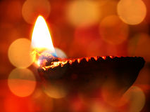 Diwali Lamp. A traditional lamp lit on the occassion of Diwali festival in India Stock Image