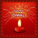Diwali Lamp fantastic colorful Background Royalty Free Stock Images