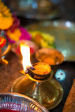 Diwali lamp with indian festival setup Royalty Free Stock Photo