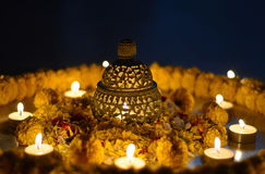 Diwali lamp. Traditional Indian earthen lamp during Diwali royalty free stock photos