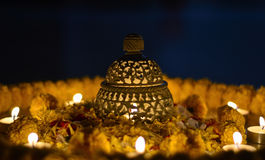 Diwali lamp. Traditional Indian earthen lamp during Diwali royalty free stock photo