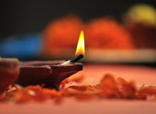 Diwali lampa Arkivbild