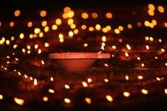 Diwali-Lampen-Dekorationen stockbilder