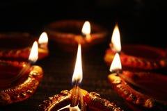 Diwali lampor Fotografering för Bildbyråer