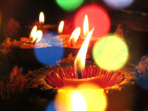 Diwali lampor Royaltyfria Bilder