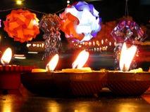 Diwali lampor och lyktor Arkivfoto