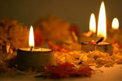 Diwali lampor, traditionellt indier Fotografering för Bildbyråer