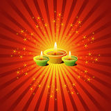 Diwali Lamps. With Sparkling Background Royalty Free Stock Photography