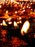 Diwali Lamps. Beautiful earthen lamps lit traditionally on the occassion of Diwali festival in India