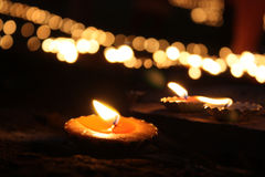 Diwali Lamps Stock Image