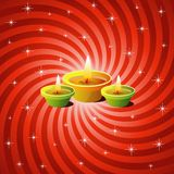 Diwali Lamps. With Sparkling Background Stock Photo