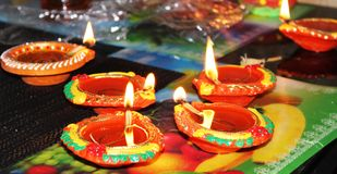 Diwali lamps Royalty Free Stock Photos