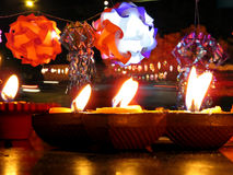 Diwali Lamps and Lanterns Stock Photo