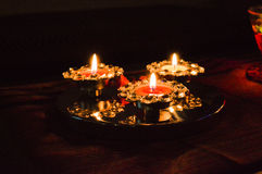 Diwali Lamps Stock Photography