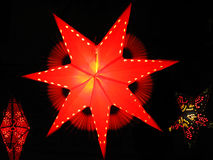 Diwali Lanterns. Beautifully crafted star shaped lanterns made of paper, put up for the occasion of diwali Royalty Free Stock Photo