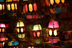 Diwali Lanterns. Beautiful traditional lanterns for sale in a shop on occasion of Diwali / Christmas festival in India Royalty Free Stock Images