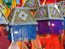 Diwali Lanterns. A decoration of beautiful traditional lanterns on the occasion of Diwali festival in India Royalty Free Stock Photos