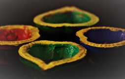 Diwali le festival de la lumière Photographie stock libre de droits