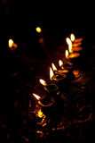 Diwali lights. Oil candles, India