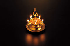 Diwali Lights. A diwali light lit within the darkness Royalty Free Stock Images