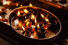 Diwali ljus Arkivfoton