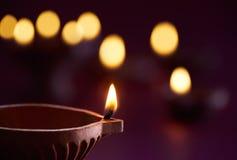Diwali nafciana lampa Zdjęcie Stock