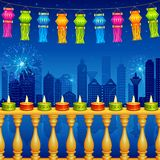 Diwali Night Decoration Royalty Free Stock Photography