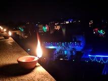 Diwali, noite, cena maravilhosa da noite, ama-o foto de stock