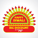 Diwali offer banner deisgn. Creative diwali festival big discount offer design Royalty Free Stock Photography