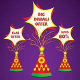 Diwali offer banner deisgn. Creative diwali offer banner or flyer design Stock Image