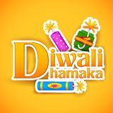 Diwali Offer for promotion and advertisment. Illustration of Diwali Dhamaka (Diwali Offer) for promotion and advertisment