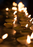 Diwali oil lamp. In indian temple