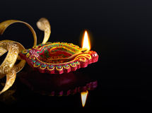 Diwali oil lamp Stock Images