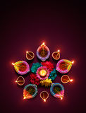 Diwali oil lamp royalty free stock photos