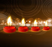 Diwali oil lamp colorful fantastic  Stock Images