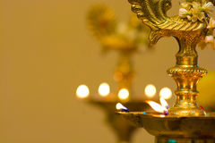 Diwali oil lamp during festival period Royalty Free Stock Photography