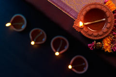Diwali oil lamp royalty free stock photography