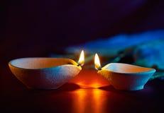 Diwali oil lamp stock image