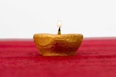 Diwali oil lamp. Traditional diya lamps lit during diwali celebration Royalty Free Stock Images