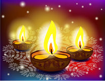 Diwali oil lamps Stock Image