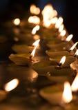 Diwali olje- lampa Arkivbilder