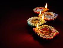 Diwali olje- lampa arkivfoto