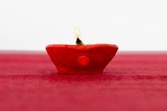 Diwali olje- lampa Arkivfoton