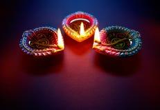 Diwali olje- lampa royaltyfri foto