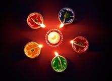 Diwali olje- lampa royaltyfria foton
