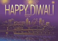 Diwali på den Sabarmati flodframdelen Royaltyfria Bilder